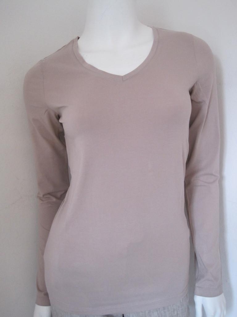 Langarm V-Shirt von White T-Langarm V-Shirt Gr.  S