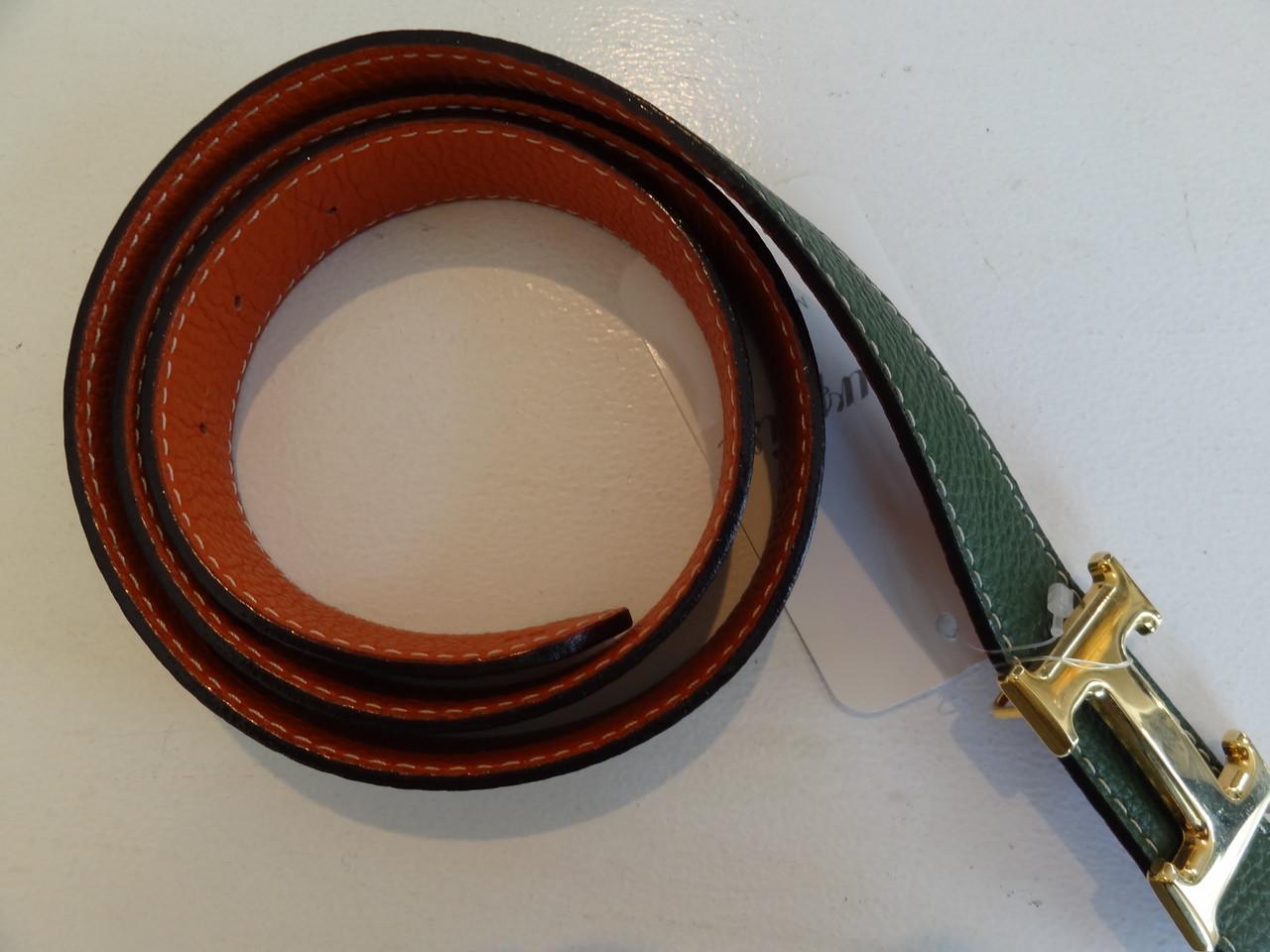 Wendegürtel in grün-orange Gr 90