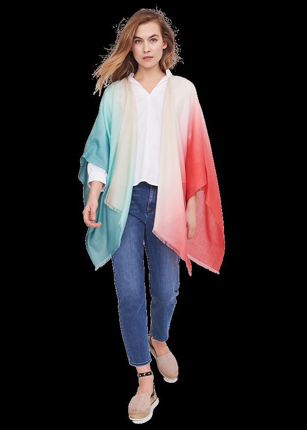 Poncho mit Farbverlauf von RIANI
